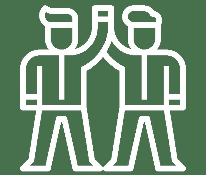 Icon Mit Zwei Personen, Die Sich High 5 Geben